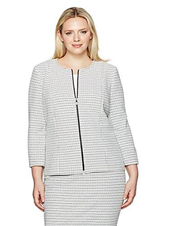 f36bae9e74a Kasper Womens Plus Size Stripe Knit Jacquard Jacket