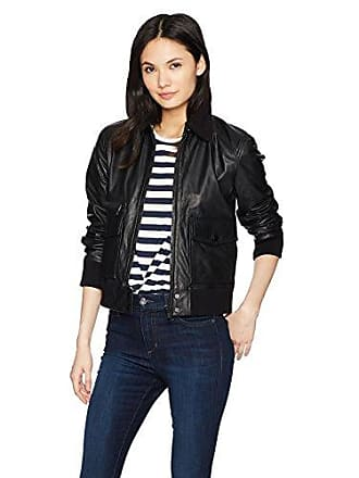 Joe's Womens Billie Leather Jacket, Black, M