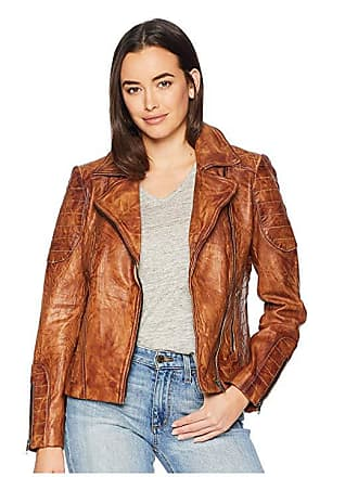 edc3fc1c1756d Scully Rabia Ladies Leather Jacket (Tan) Womens Coat