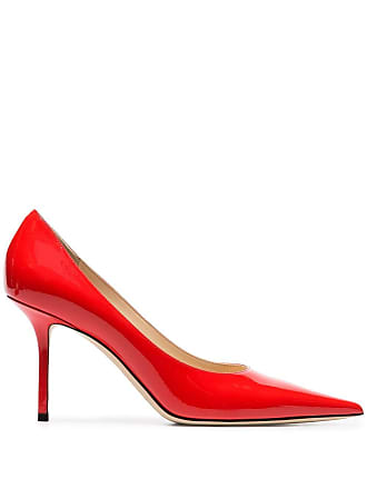 Jimmy Choo London red Love 85 patent leather pumps - Vermelho