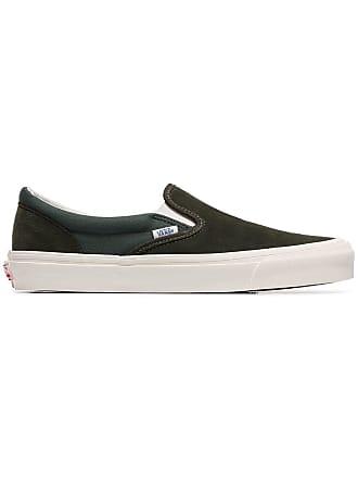 Vans green Vault OG slip on suede sneakers
