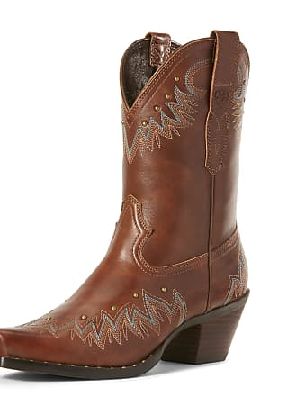 3639ffb8a14 Ariat Womens Potrero Western Boots in Antique Nutmeg Leather