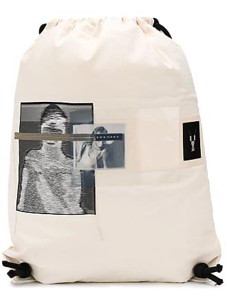 Rick Owens Mochila com estampa fotográfica - Branco