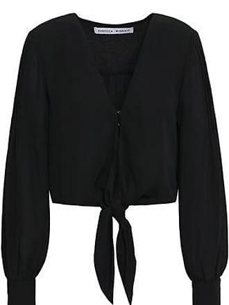 Rebecca Minkoff Rebecca Minkoff Woman Janae Cropped Crepe Top Black Size XS
