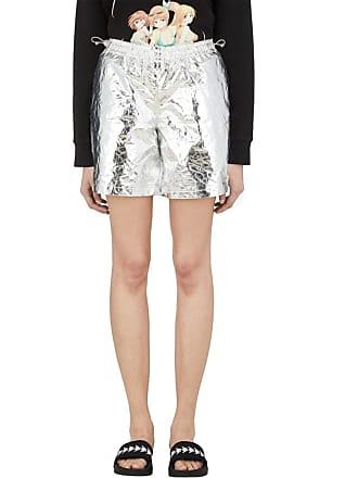 Misbhv Nylon Foil Shorts - Silver