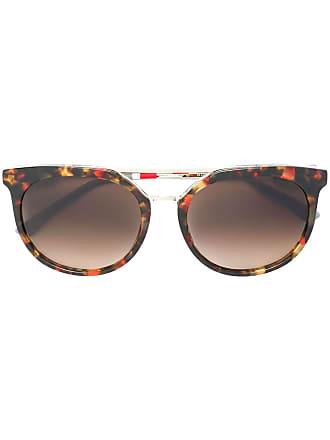Orlebar Brown Óculos de sol arredondado - Marrom