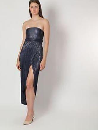 9785588b2 BCBGeneration Vestido con Diseño Plisado br  Azul Marino