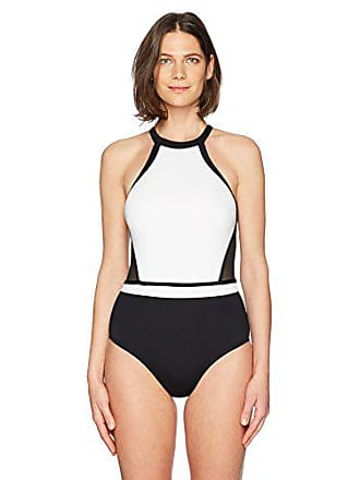 a7fcd1f94d666 Jantzen Womens White High Neck H-Back One Piece Swimsuit