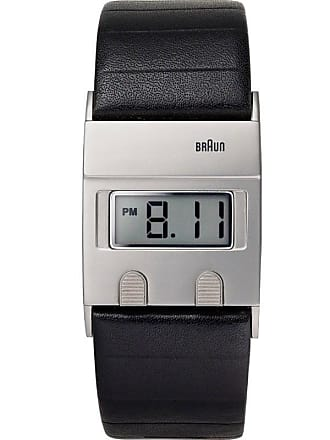 Braun BN0076 Black Digital Watch | Leather