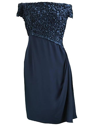 43db015fe35 1stdibs Catherine Walker Navy Blue Silk Ribbonwork Couture Evening Dress