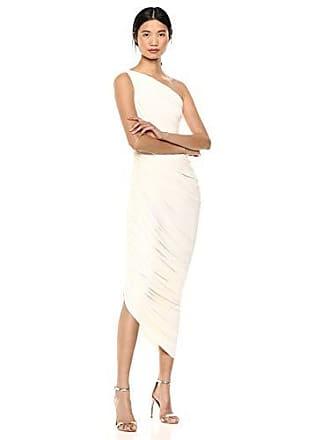 Norma Kamali Womens Diana Gown, Ivory, XL