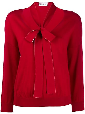 Red Valentino pussy bow knitted sweater - Vermelho