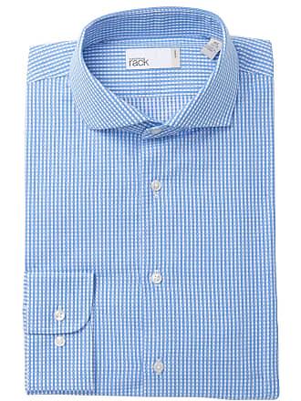 Nordstrom Rack Textured Gingham Textured Trim Fit Dress Shirt
