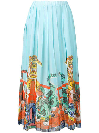 Ultra Chic tiger print pleated skirt - Blue