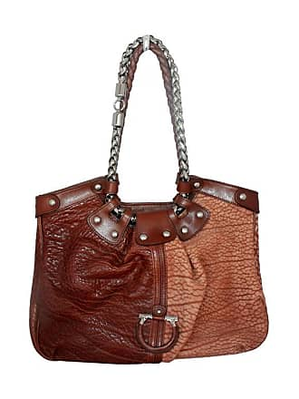 922beb310f46 Salvatore Ferragamo Two-toned Brown Leather Should Bag - Shw