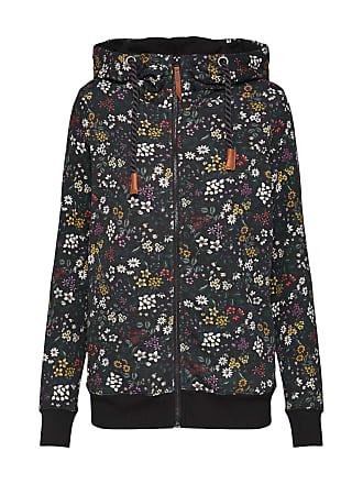Only Sweatshirt onlSIGNE L S AOP ZIP HOOD SWT mischfarben   schwarz da511354c2