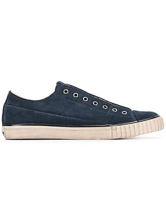 John Varvatos denim laceless sneakers - Blue