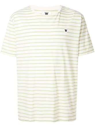 Wood Wood Camiseta listrada - Branco