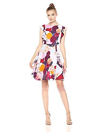 be8c237af523a1 Julia Jordan Womens Ruffle Sleeve All Over Floral Printed Fitflare