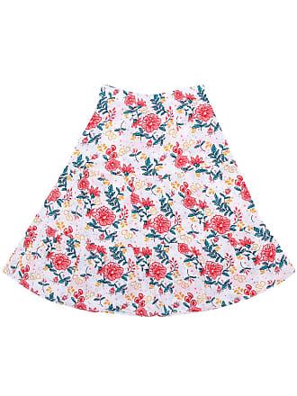 Tip Top Saia Tip Top Floral Branca/Rosa