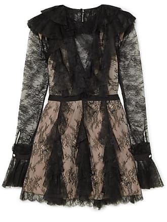 Philosophy di Lorenzo Serafini Ruffled Lace Mini Dress - Black