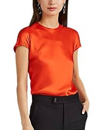 6717e3d220bd8f Helmut Lang Womens Satin Cap-Sleeve Top - Orange Size M