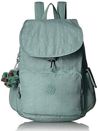 Kipling Womens City Pack Medium, Adjustable Backpack Straps, Zip Closure, fern green tonal
