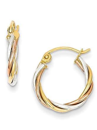 125b4f4f1 Zales Multi-Row Twist Hoop Earrings in 14K Tri-Tone Gold