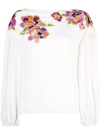 Natori Blusa com detalhe bordado - Branco