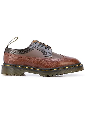 89618779665 Dr. Martens two-tone panelled brogues - Brown