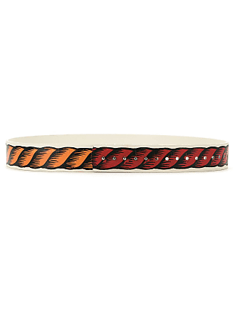 À La Garçonne handpainted leather belt - Multicolour