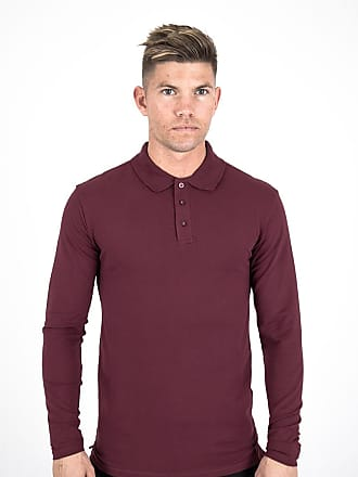 Perform Collection Performance L/S Polo Shirt - Burgundy