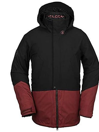 Volcom Mens Pat Moore 3-in-1 2 Layer Stretch Snow Jacket, Burnt red, Extra Large