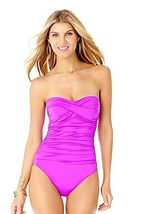 f3d7210efc4 Anne Cole Womens Twist Front Shirred One Piece Swimsuit, New Purple, 8