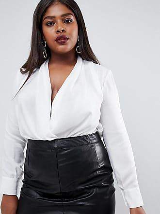 Outrageous Fortune Plus wrap front blouse - White