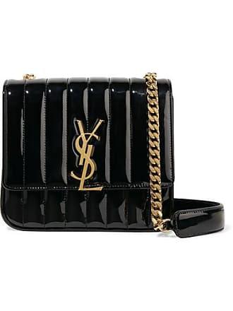 8cb3001edb Saint Laurent Vicky Medium Quilted Patent-leather Shoulder Bag - Black