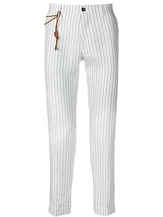 Berwich Calça listrada - Branco