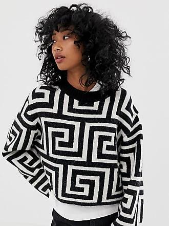 Weekday sweater with geometric roman print in mono - Multi