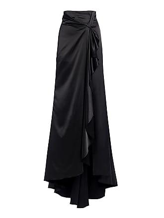 Alexis Brill High Waist Maxi Slit Skirt Black