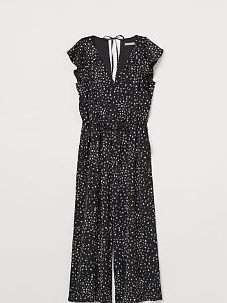 H&M V-neck Jumpsuit - Black
