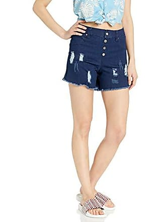 Hue Womens Ultra Soft Denim High Waist Shorts, Ink Wash, Large