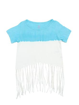 Bisi Blusa Bisi Franja Azul/Branca