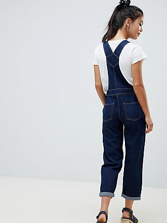 aeccc01a70 Asos Petite ASOS DESIGN Petite denim dungaree in rinsewash - Blue