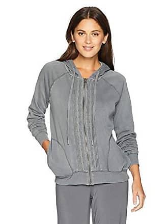 PJ Salvage Womens Linear Lounge Hoody, Grey, XL