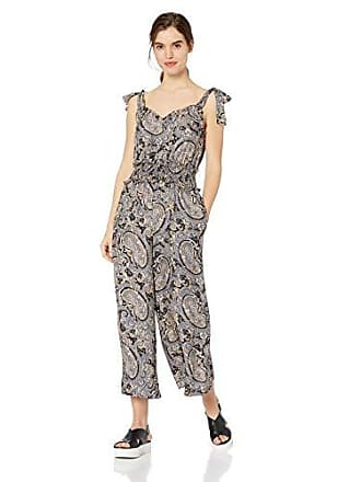 Rebecca Taylor Womens Sleeveless Print Jumpsuit, BLEU Combo L