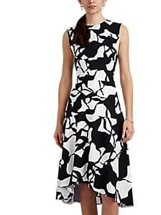 38553531cb Narciso Rodriguez Womens Abstract-Print Stretch-Silk A-Line Dress - White
