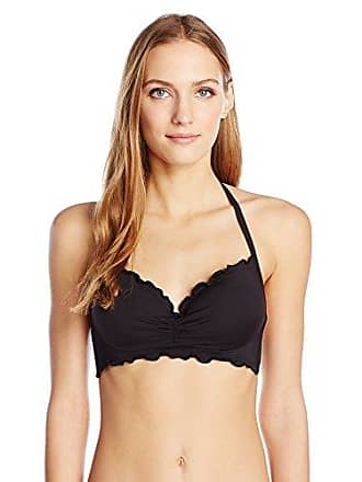 2c4c25163cc41 Kenneth Cole Reaction Womens The Frill It Ruffle Underwire Push up Halter  Bra Swimsuit Bikini Top