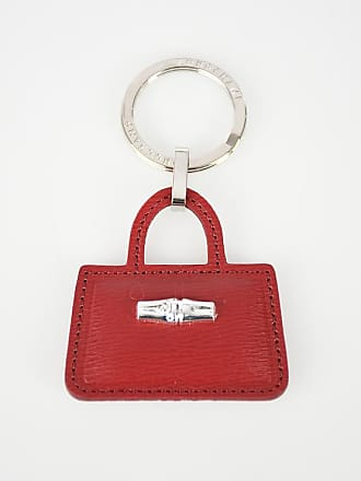 96011a0ed4f82 Longchamp Key Ring with Leather Pendant Größe Unica