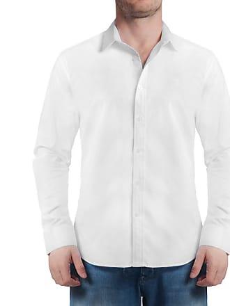 Sergio K. Camisa Stretch Listra Falso Liso Branco