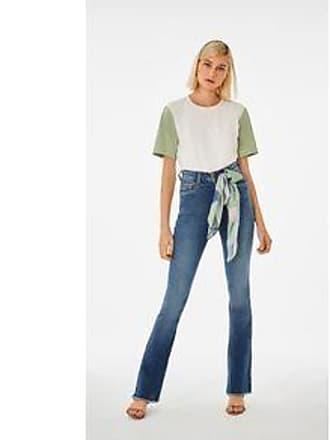 Lebôh Calça Boot Cut Gigi Cos Alto Com Lenco Jeans 44